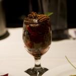 Raw chocolate and berry parfait